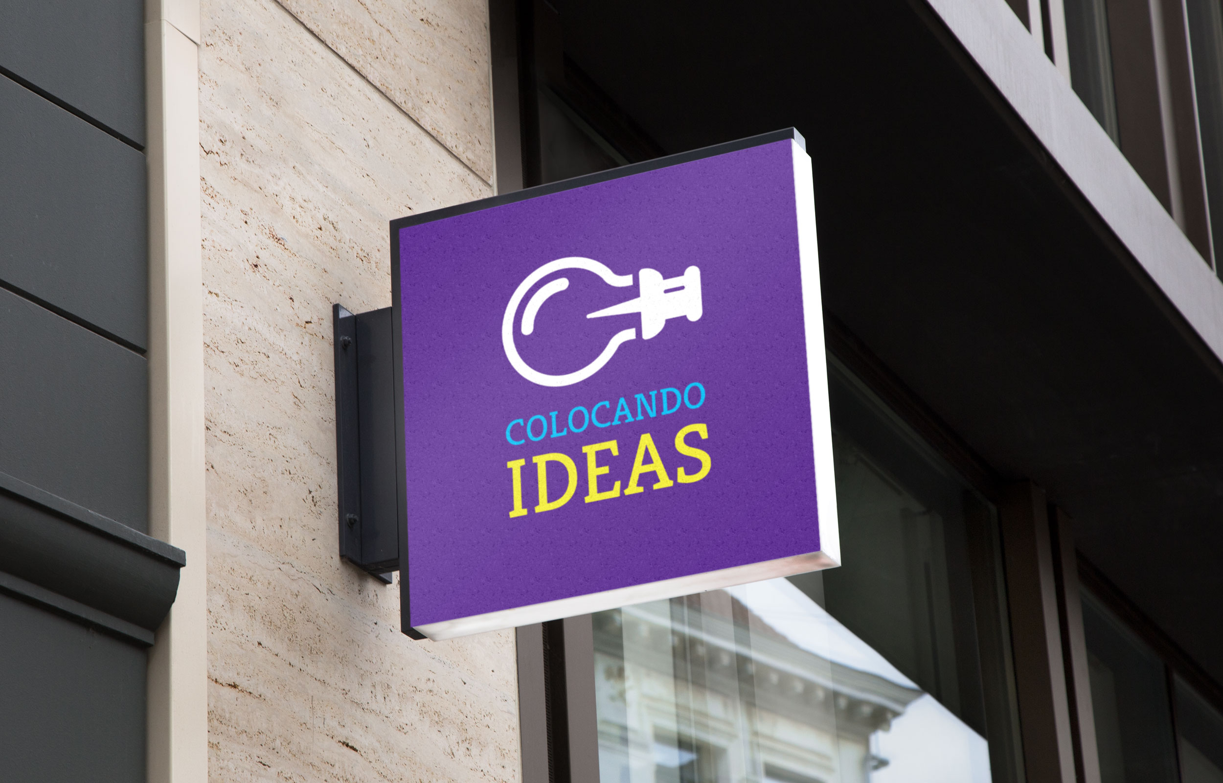 Propuesta de rótulo exterior corporativo para empresa de marketing y comunicación Colocando ideas, México